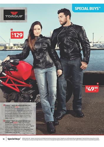 Aldi Catalogue Leather Jacket August 2014