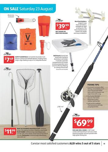 Aldi fishing supplies august offers 2014 for Fishing equipment stores