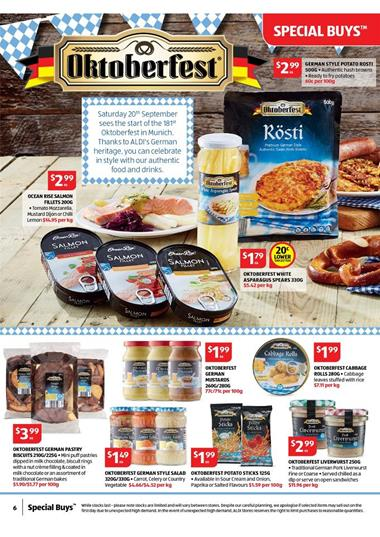 Aldi Grocery Products Special Offers September 2014