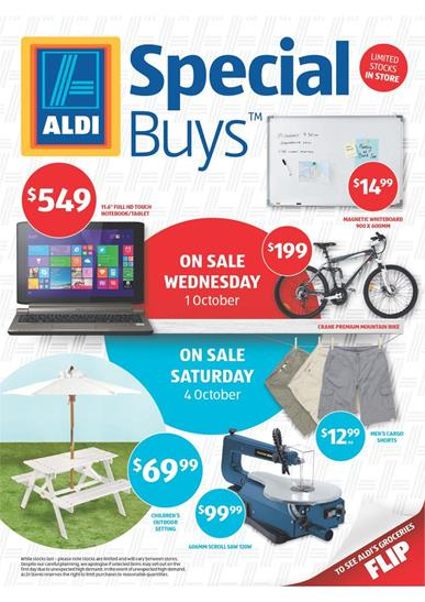Aldi Special Offers Outdoor Products and Biking