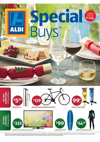 Aldi Christmas Special Buys November