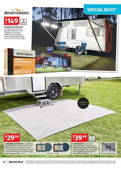 Aldi Specials Catalogue Outdoor Camping Equipment