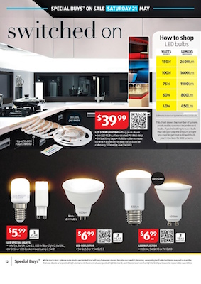 aldi catalogue led strip lighting price. Black Bedroom Furniture Sets. Home Design Ideas